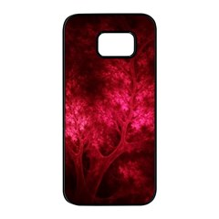 Artsy Red Trees Samsung Galaxy S7 Edge Black Seamless Case by allthingseveryone