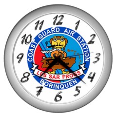 Coast Guard Air Station Borinquen Puerto Rico Wall Clocks (silver)  by allthingseveryday