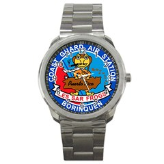 Coast Guard Air Station Borinquen Puerto Rico Sport Metal Watch by allthingseveryday