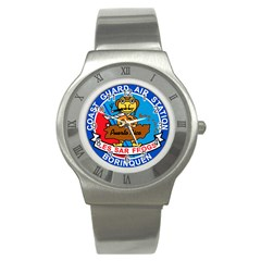 Coast Guard Air Station Borinquen Puerto Rico Stainless Steel Watch by allthingseveryday