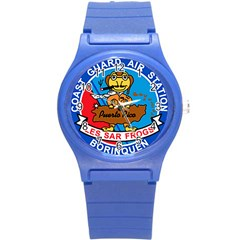 Coast Guard Air Station Borinquen Puerto Rico Round Plastic Sport Watch (s) by allthingseveryday