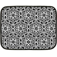 Star With Twelve Rays Pattern Black White Double Sided Fleece Blanket (mini)  by Cveti