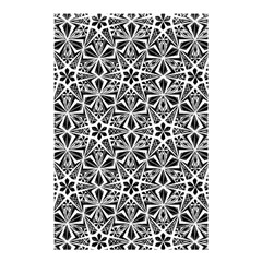 Star With Twelve Rays Pattern Black White Shower Curtain 48  X 72  (small)  by Cveti