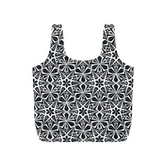 Star With Twelve Rays Pattern Black White Full Print Recycle Bags (s)  by Cveti