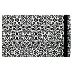 Star With Twelve Rays Pattern Black White Apple Ipad Pro 9 7   Flip Case by Cveti