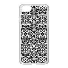 Star With Twelve Rays Pattern Black White Apple Iphone 8 Seamless Case (white)