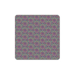 Flower Kaleidoscope Hand Drawing 2 Square Magnet by Cveti