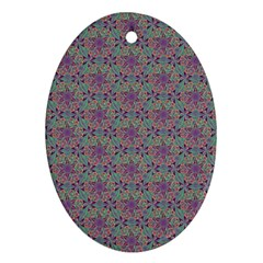 Flower Kaleidoscope Hand Drawing 2 Oval Ornament (two Sides) by Cveti