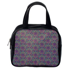 Flower Kaleidoscope Hand Drawing 2 Classic Handbags (one Side) by Cveti