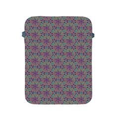 Flower Kaleidoscope Hand Drawing 2 Apple Ipad 2/3/4 Protective Soft Cases by Cveti