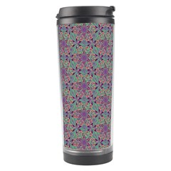 Flower Kaleidoscope Hand Drawing 2 Travel Tumbler by Cveti