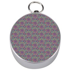 Flower Kaleidoscope Hand Drawing 2 Silver Compasses by Cveti