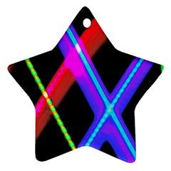 Xmas Light Paintings Ornament (star) by Celenk