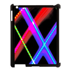 Xmas Light Paintings Apple Ipad 3/4 Case (black) by Celenk