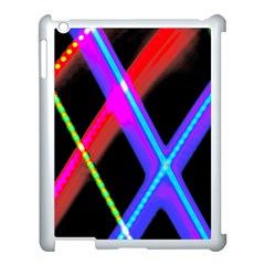 Xmas Light Paintings Apple Ipad 3/4 Case (white) by Celenk