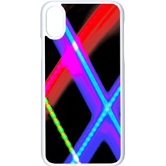 Xmas Light Paintings Apple Iphone X Seamless Case (white)
