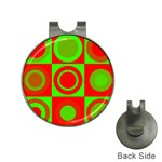 Redg Reen Christmas Background Hat Clips with Golf Markers Front