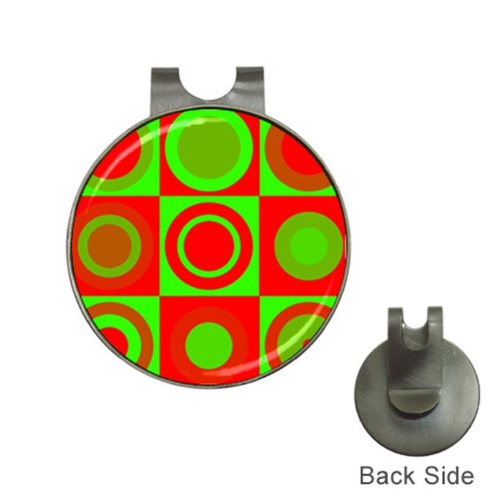 Redg Reen Christmas Background Hat Clips with Golf Markers