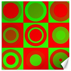 Redg Reen Christmas Background Canvas 20  X 20   by Celenk