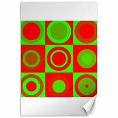 Redg Reen Christmas Background Canvas 24  X 36  by Celenk