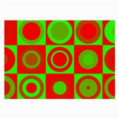 Redg Reen Christmas Background Large Glasses Cloth by Celenk