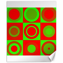 Redg Reen Christmas Background Canvas 11  X 14   by Celenk