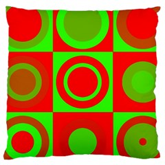 Redg Reen Christmas Background Large Cushion Case (one Side) by Celenk