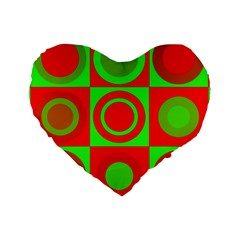 Redg Reen Christmas Background Standard 16  Premium Flano Heart Shape Cushions by Celenk