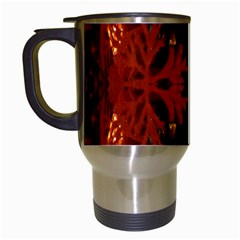 Red Abstract Travel Mugs (white) by Celenk