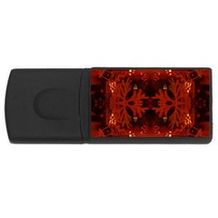 Red Abstract Rectangular Usb Flash Drive by Celenk
