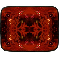 Red Abstract Fleece Blanket (mini) by Celenk