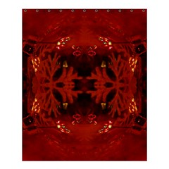Red Abstract Shower Curtain 60  X 72  (medium)  by Celenk