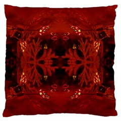 Red Abstract Standard Flano Cushion Case (two Sides) by Celenk