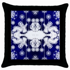 The Effect Of Light  Very Vivid Colours  Fragment Frame Pattern Throw Pillow Case (black) by Celenk