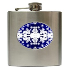 The Effect Of Light  Very Vivid Colours  Fragment Frame Pattern Hip Flask (6 Oz) by Celenk