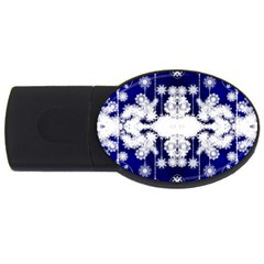 The Effect Of Light  Very Vivid Colours  Fragment Frame Pattern Usb Flash Drive Oval (2 Gb) by Celenk