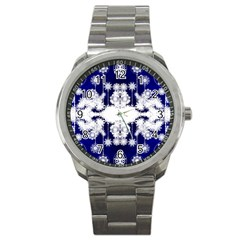 The Effect Of Light  Very Vivid Colours  Fragment Frame Pattern Sport Metal Watch by Celenk
