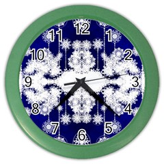 The Effect Of Light  Very Vivid Colours  Fragment Frame Pattern Color Wall Clocks by Celenk