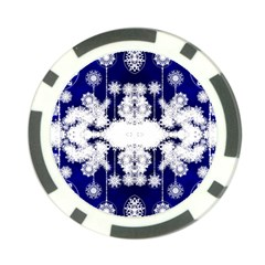 The Effect Of Light  Very Vivid Colours  Fragment Frame Pattern Poker Chip Card Guard by Celenk
