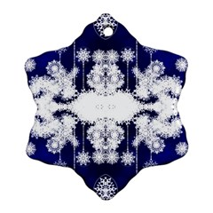 The Effect Of Light  Very Vivid Colours  Fragment Frame Pattern Snowflake Ornament (two Sides) by Celenk