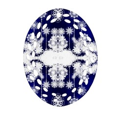 The Effect Of Light  Very Vivid Colours  Fragment Frame Pattern Oval Filigree Ornament (two Sides) by Celenk