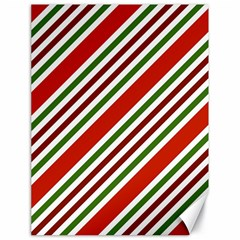 Christmas Color Stripes Canvas 18  X 24   by Celenk