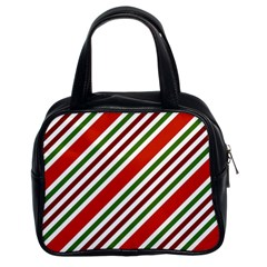 Christmas Color Stripes Classic Handbags (2 Sides)