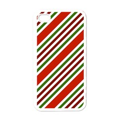 Christmas Color Stripes Apple Iphone 4 Case (white) by Celenk