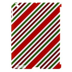 Christmas Color Stripes Apple Ipad 3/4 Hardshell Case (compatible With Smart Cover) by Celenk