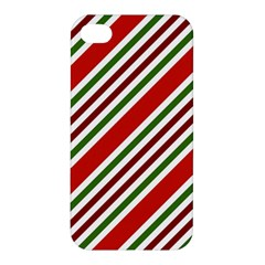 Christmas Color Stripes Apple Iphone 4/4s Premium Hardshell Case by Celenk