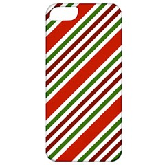 Christmas Color Stripes Apple Iphone 5 Classic Hardshell Case by Celenk