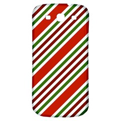 Christmas Color Stripes Samsung Galaxy S3 S Iii Classic Hardshell Back Case by Celenk