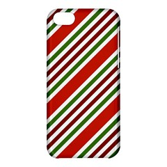 Christmas Color Stripes Apple Iphone 5c Hardshell Case by Celenk