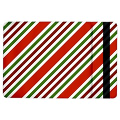 Christmas Color Stripes Ipad Air 2 Flip by Celenk